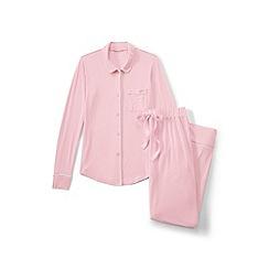 Lands' End - Pink plain modal pyjama set
