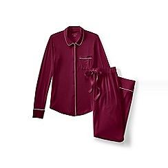 Lands' End - Red plain modal pyjama set