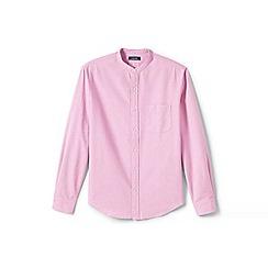 Lands' End - Pink grandad collar Oxford shirt