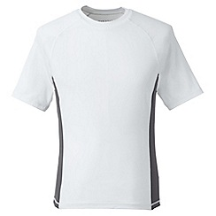Lands' End - White regular short sleeve rash vest
