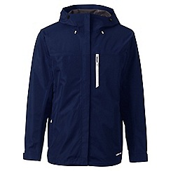 Lands' End - Blue regular waterproof jacket