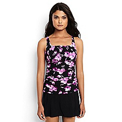 Lands' End - Multi regular shape and enhance scoop neck blossom print tankini top