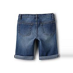 Lands' End - Girls' blue denim bermuda shorts