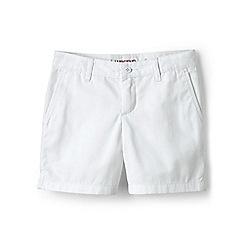 Lands' End - Girls' white mini bermuda shorts