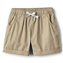 Lands' End - Girls' green pull on shorts