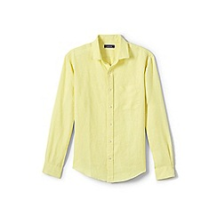 Lands' End - Yellow long sleeve linen shirt