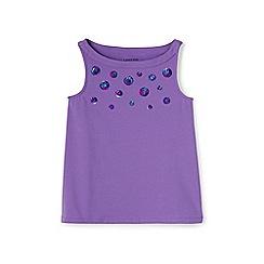 Lands' End - Girls' purple a-line graphic vest top