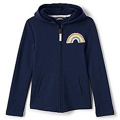 Lands' End - Girls' blue rainbow hoodie