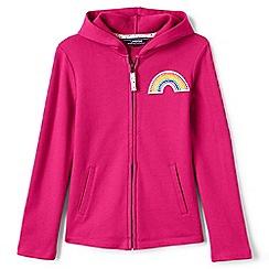 Lands' End - Girls' pink rainbow hoodie