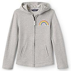 Lands' End - Girls' grey rainbow hoodie