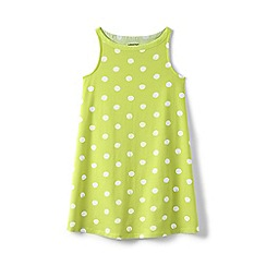 Lands' End - Girls' green a-line sleeveless dress