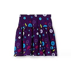Lands' End - Girls' purple patterned skort