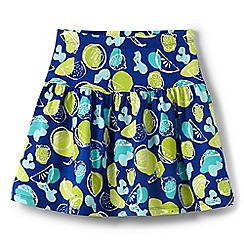Lands' End - Girls' blue patterned skort