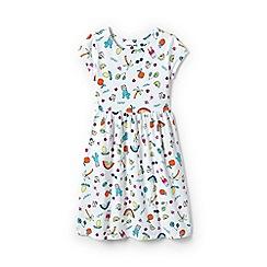 Lands' End - Multicoloured girls' short sleeve gathered waist dress
