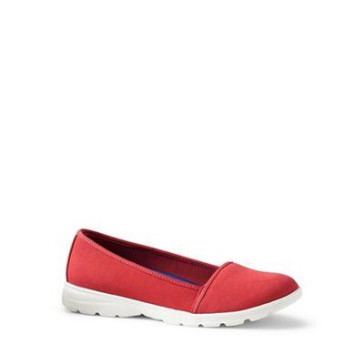 Womens Wide Alpargata Lightweight Slip-on Shoes - 4.5 - Green Lands End