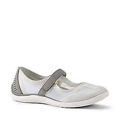 Lands' End - White Regular Mary Jane Water Shoes