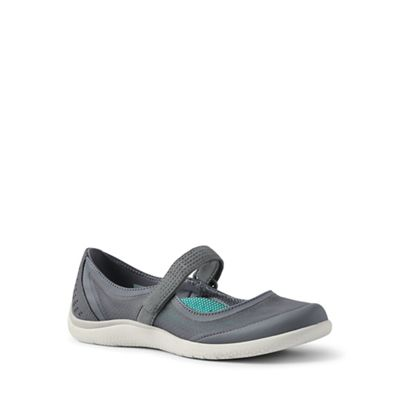 Lands' End - Grey regular mary jane water shoes
