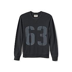 Lands' End - Grey graphic jersey sweatshirt