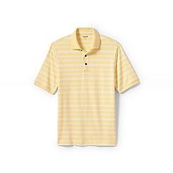 Lands' End - Yellow jacquard Supima polo shirt