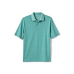 Lands' End - Green jacquard supima polo shirt