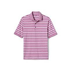 Lands' End - Pink jacquard Supima polo shirt