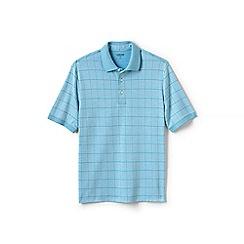 Lands' End - Blue jacquard supima polo shirt