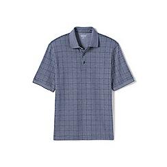 Lands' End - Grey jacquard supima polo shirt