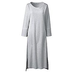 Lands' End - Light grey mid-calf supima nightdress