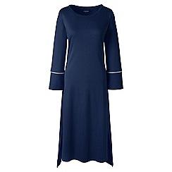 Lands' End - Dark blue mid-calf supima nightdress