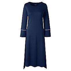 Lands' End - Petite dark blue bracelet sleeve mid-calf supima nightdress