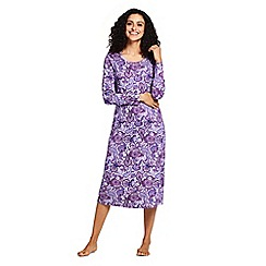 Lands' End - Purple supima patterned nightdress