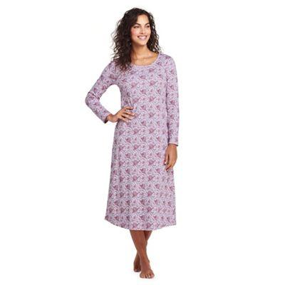 Lands  End - Purple petite supima patterned nightdress 4c598c478