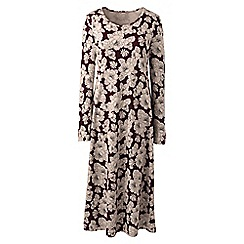 Lands' End - Multi plus supima patterned long sleeve calf-length nightdress