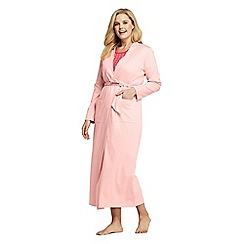 Lands' End - Pink Plus Supima Dressing Gown