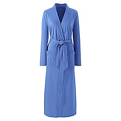 Lands' End - Blue Plus Supima Dressing Gown