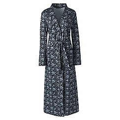 Lands' End - Multi plus supima patterned dressing gown
