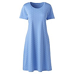 Lands' End - Blue supima patterned nightdress
