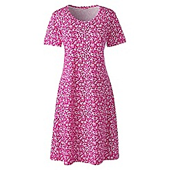 Lands' End - Pink supima patterned nightdress