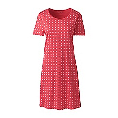 Lands' End - Red Petite Supima Patterned Nightdress