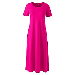 Lands' End - Pink supima short sleeves calf-length nightdress