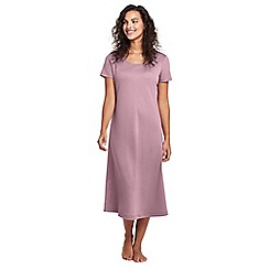 Lands' End - Pink supima short sleeve calf-length nightdress