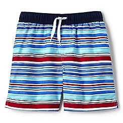 Lands' End - Boys' white volley printed swim shorts