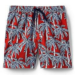 Lands' End - Boys' orange volley printed swim shorts
