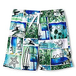Lands' End - Boys' multicoloured volley printed swim shorts
