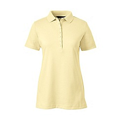 Lands' End - Yellow short sleeves pima polo t-shirt