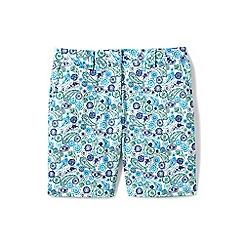Lands' End - Blue 7'' print chino shorts