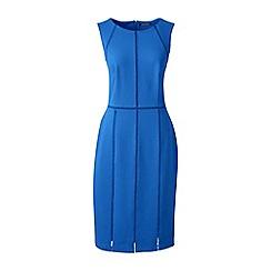 Lands' End - Blue faggoting trim ponte jersey dress
