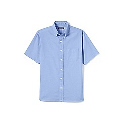 Lands' End - Blue regular short sleeve sail rigger oxford shirt