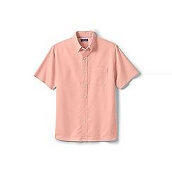 Lands' End - Orange regular short sleeve sail rigger Oxford shirt