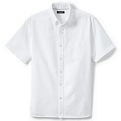Lands' End - White regular short sleeve sail rigger oxford shirt